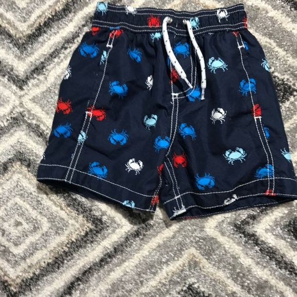 Carter's Other - Carter's 2T blue swim trunks with crabs all over